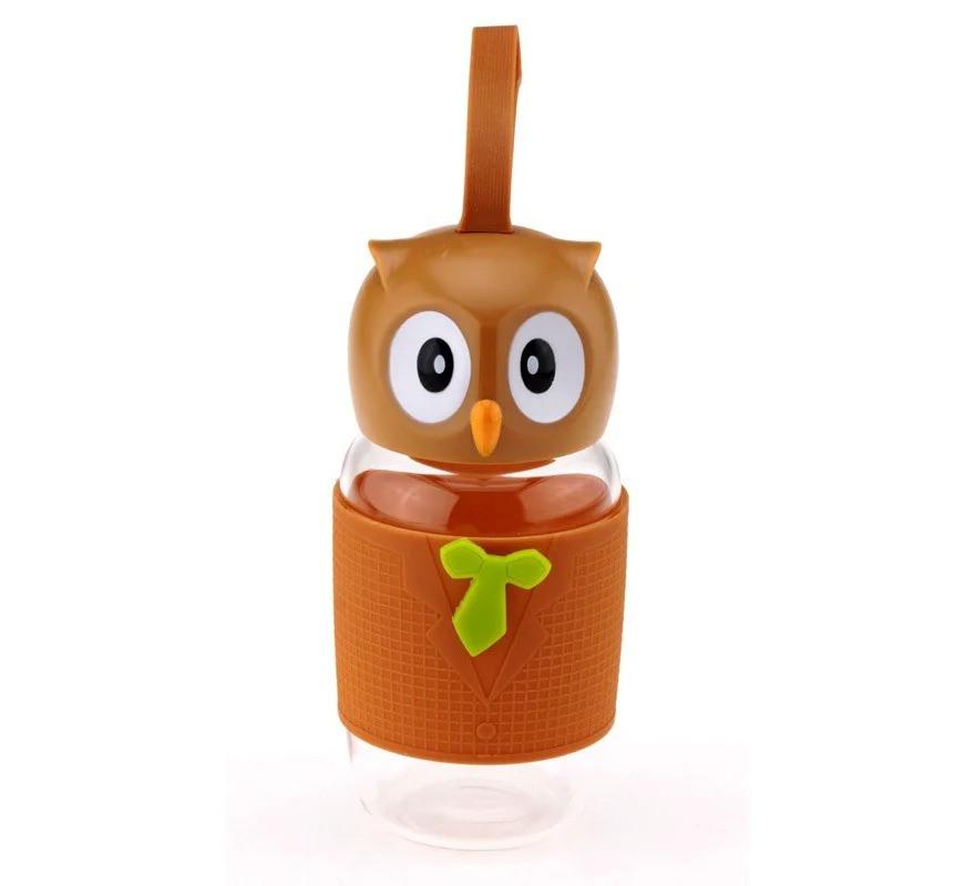Детская пластиковая бутылка для напитков Сова