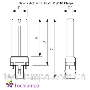 Лампа Actinic BL PL-S 11W/10 Philips