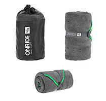 Полотенце из махровой микрофибры ONRIDE Dry 120х60 см серый