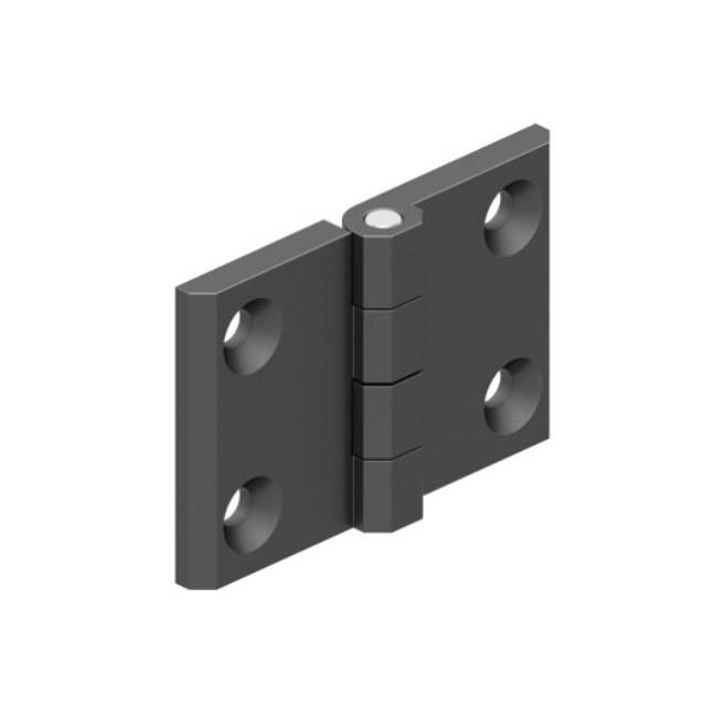 Плоская накладная петля 324-V1, 50х76 мм, металл, Турция, черная