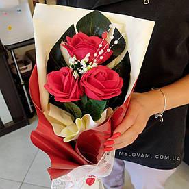 Букет из мыла ручной работы, конверт роз, букет роз