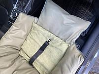 Автогамак і автокрісло для перевезення собак в машині розмір 40*40 см фісташка еко шкіра, фото 3