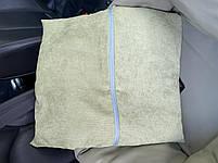Автогамак і автокрісло для перевезення собак в машині розмір 40*40 см фісташка еко шкіра, фото 4