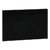 Панель смыва с двумя клавишами стеклянная TECE TECEloop 9.240.657 стекло черное, клавиши черные, фото 1