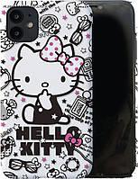 """Пластиковый матовый чехол для iPhone 11 - """"Hello Kitty"""" (8CASE)"""