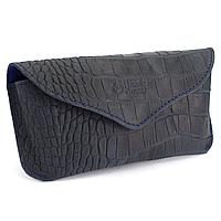 Футляр для очков кожаный Handycover HC0085 (синий крокодил), фото 1