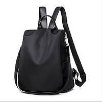 Рюкзак сумка протикрадій жіночий міський чорний Код 10-0100