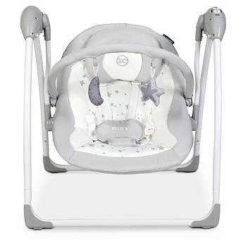 Детское музыкальное кресло-качалка El Camino ME AIRY Stars Gray для детей с рождения Серый