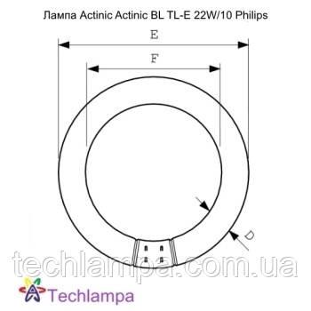 Лампа Actinic Actinic BL TL-E 22W/10 Philips