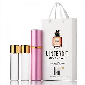 Мини-парфюм с феромонами женский Givenchy L'Interdit 3х15 мл