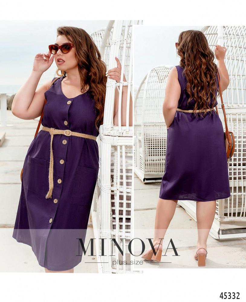 Платье №2276-фиолетовый фиолетовый/50-52