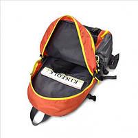 Спортивний туристичний міський рюкзак для тренувань і туризму помаранчевий, фото 3