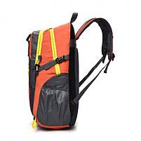 Спортивний туристичний міський рюкзак для тренувань і туризму помаранчевий, фото 4