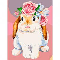 Набір картина за номерами Пухнаста весна 30х40см, акрилові фарби, кисті, полотно, фото 1