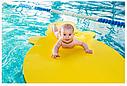 Матрас для отдыха на воде для малышей (плот для пляжа и бассейна) EVA_LINE -  Бегемот 1400*700*30 мм, фото 4