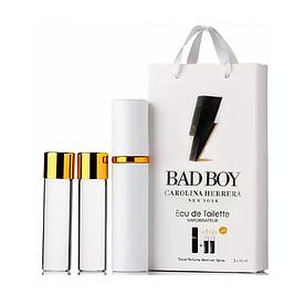 Мини-парфюм с феромонами мужской Carolina Herrera Bad Boy 3х15 мл