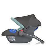 Детское автокресло-бебикокон для новорожденных до 13 кг El Camino Newborn+ серо-мятный Автокрісло для немовлят, фото 3