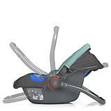 Детское автокресло-бебикокон для новорожденных до 13 кг El Camino Newborn+ серо-мятный Автокрісло для немовлят, фото 4