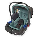 Детское автокресло-бебикокон для новорожденных до 13 кг El Camino Newborn+ серо-мятный Автокрісло для немовлят, фото 5