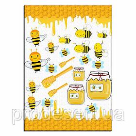 Баночка меду і бджілки 2 вафельна картинка