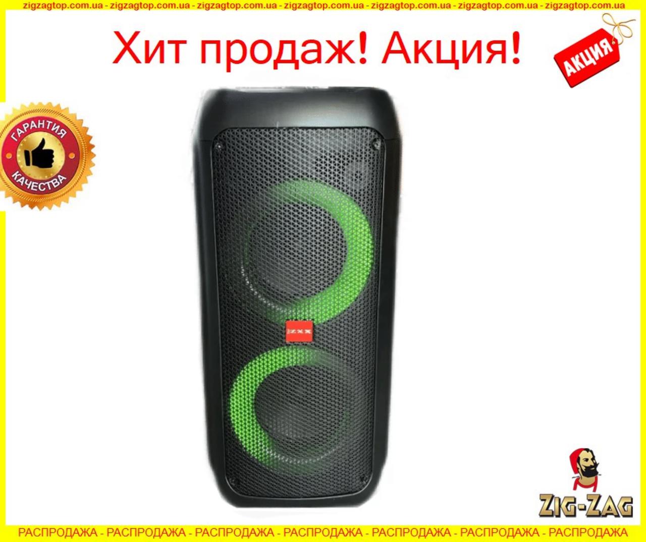 """Портативна бездротова акустична колонка з Bluetooth ZXX 5506 c мікрофоном 500Вт 6"""" USB/SD/ FM BT/MIC/ДУ"""