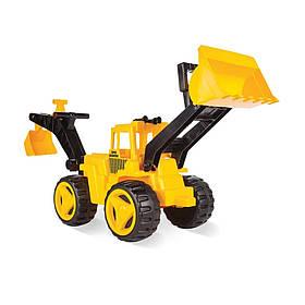 Игрушечная машинка Экскаватор Бульдозер с ковшом Pilsan 06-206 Жёлтый | Машинка іграшка дитяча