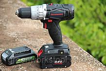 Дрель-шуруповерт ударная аккумуляторная Powerworks P24CD / Greenworks G24CD без АКБ и ЗУ