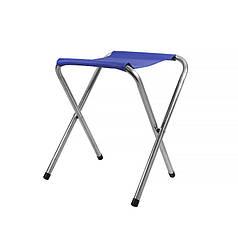 Табурет складаний Lesko SJD-02 Blue туристичний стілець для саду пікніка кемпінгу 34*32 см