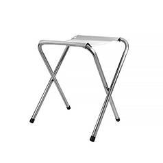 Табурет складаний Lesko SJD-02 White туристичний стілець для саду пікніка риболовлі 34*32 см