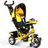 Детский велосипед трехколесный с ручкой фарой Best Trike колеса пена 1-3 года Желтый (58579), фото 3