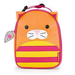 Детская термосумка Skip Hop Zoo lunch bag - Cat Orange (Кот оранжевый), 3+