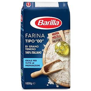 Борошно Barilla 1 кг з м'яких сортів пшениці, типу 00, 10кг/ящ