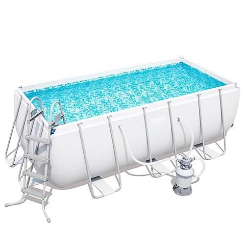 Каркасний басейн 56457 прямокутний 412 x 201 x 122 см, насос, сходи