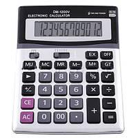 Калькулятор большой настольный DM 1200: 12 знаков, питание батарейки/солнечное