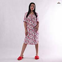 Женская ночная рубашка хлопковая батальная р.52-66