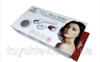 Мезороллер для обличчя і тіла 4 в 1 масажер, дермороллер EL 688 (100 шт/ящ)