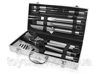 Набір для мангалу 43х21х8см BBQ Tools Set AL 10/ 8995 (6 шт/ящ)