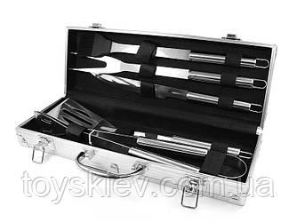 Набір для мангалу 37х13х7см BBQ Tools Set AL 5/ 8996 (10 шт/ящ)