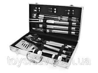 Набір для мангалу 43х24х8см BBQ Tools Set AL-18/ 8994 (6 шт/ящ)