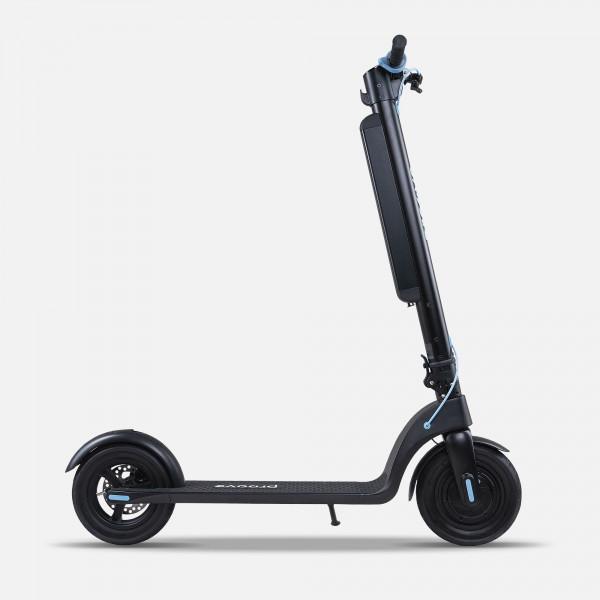 Електросамокат для підлітків і дорослих Proove X-city pro з потужним двигуном 350 Вт Чорно - Блакитний
