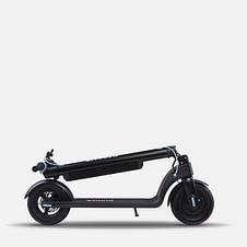 Електросамокат для підлітків і дорослих Proove X-city pro з потужним двигуном 350 Вт Чорно - Блакитний, фото 2
