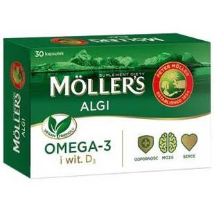 Mollers Algi Omega-3 DHA EPA для веганов 30 капсул