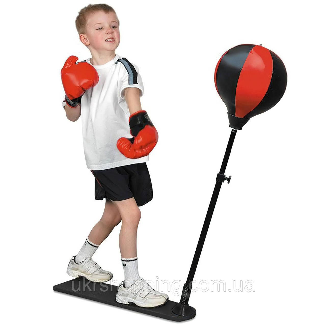 Боксерский набор на стойке Boxing King XJ-E 00828, боксерская груша и перчатки для детей (SH)