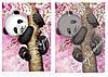 "Схема для вышивки бисером ""Панда в сакуре"", А3"