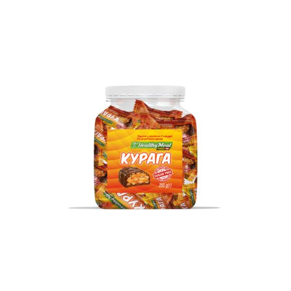 Протеиновые конфеты Power Pro с курагой и арахисом в глазури sugar free 255g