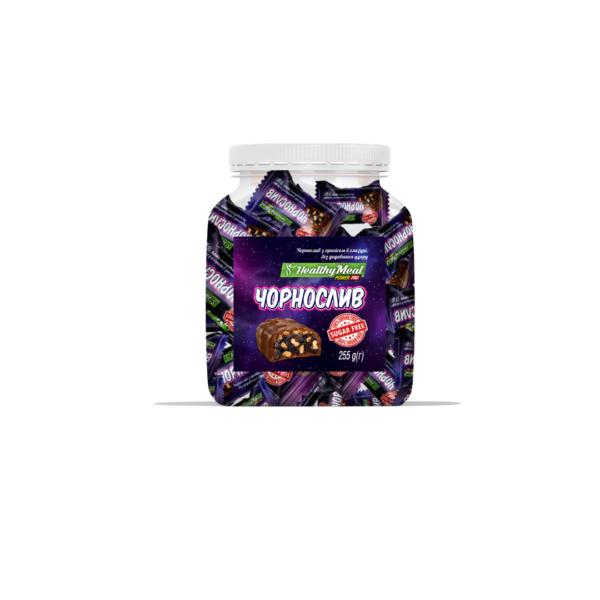 Протеиновые конфеты Power Pro с черносливом и арахисом в глазури sugar free 255g