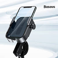 Крепление - держатель для телефона на самокат мотоцикл велосипед BASEUS Armor Motorcycle holder (черный)