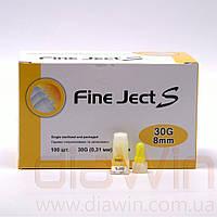 Иглы Fine-Ject S для инсулиновых шприц-ручек 30G (0.31мм)х 8мм (№100)
