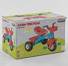Велосипед дитячий триколісний 07-169 на пластикових колесах з прогумованої накладкою / червоно-синій, фото 2