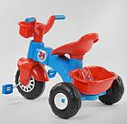 Велосипед дитячий триколісний 07-169 на пластикових колесах з прогумованої накладкою / червоно-синій, фото 3